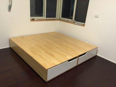 原木 床架 六尺床架 簡約款床架 可訂做
