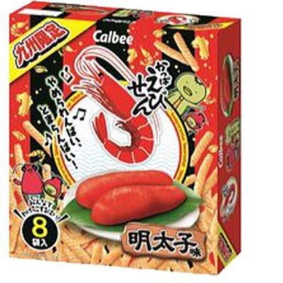 日本代購Calbee 九州限定 蝦味先 明太子味 「8袋入」