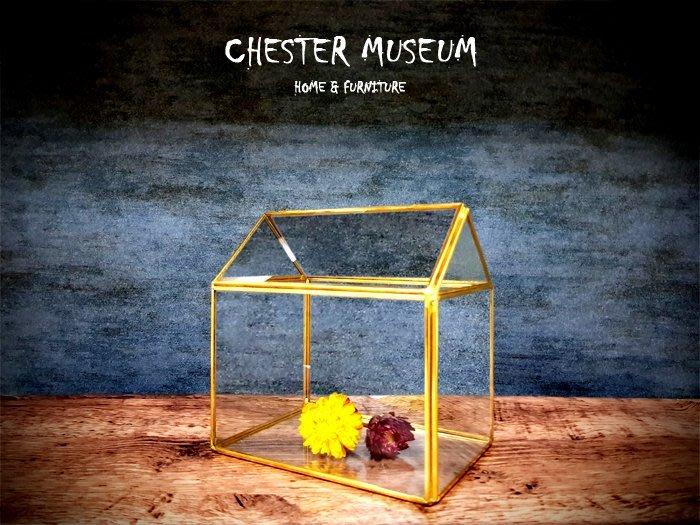 【現貨】金色玻璃花房(B款) 金色 玻璃花房 黑色玻璃花房 玻璃花器 玻璃花盆 花器 花盆 永生花 乾燥花 黑色