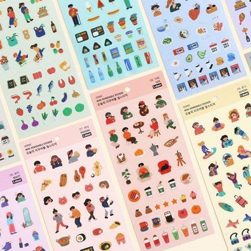 好心情日韓正品雜貨『韓國 iconic』Mini款TODAY系列~ 迷你無痕裝飾貼紙