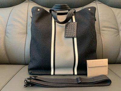 100%real & new Bottega Veneta Nero Cement Canvas Tote bag 有長帶 原價約$17,000