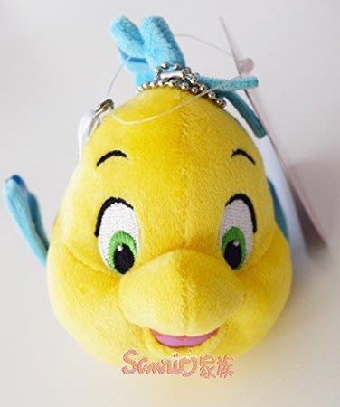 《東京家族》日本東京迪士尼Disney 限定 小美人魚 小比目魚 絨毛 吊飾 徽章