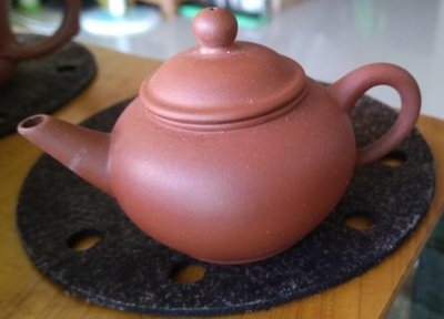 早期一廠 一杯 廠內 紅土朱泥 標準壺 (8839)