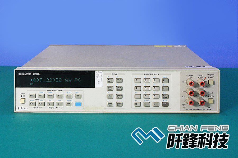 【阡鋒科技 專業二手儀器】Agilent 3458A 八位半 數位萬用電錶