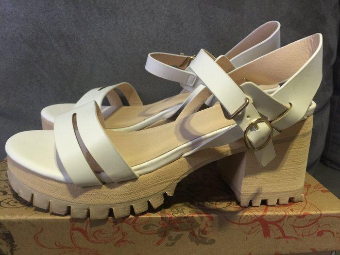 ☀APPLE SHOP☀ 正韓 高跟厚底 涼鞋/楔型鞋