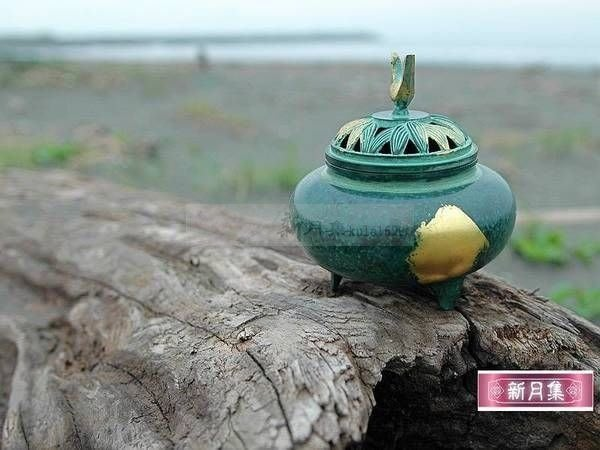 【新月集】日本金箔青銅器香爐(香的遊樂有刊載).