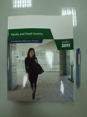 6980銤:B9-5☆2011 Level 1 Vol.5『Equity and Fixed Income』《CFA》