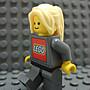 【積木1977】 Lego樂高- 亮黃色瀏海馬尾長髮 / 女生頭髮(Bright Light Yellow)(H-07)