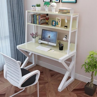 電腦桌台式辦公桌簡約現代家用書桌書架組合經濟型簡易寫字小桌子  ATF 『』 全館免運 全館免運