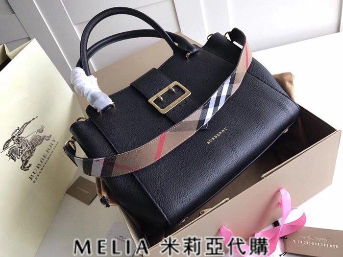 Melia 米莉亞歐洲代購 巴寶莉 戰馬 英國名品 18ss 手提包 斜背包 the buckle 笑臉包 黑色