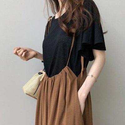 短袖T恤 設計款舒適透氣抓褶大喇叭袖竹節棉上衣 艾爾莎【TAK8338】
