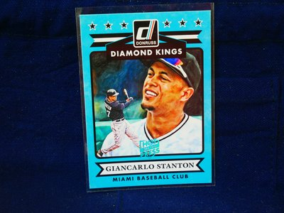 Giancarlo Stanton 2015 Donruss DK Hot off the Press 藍印平行卡