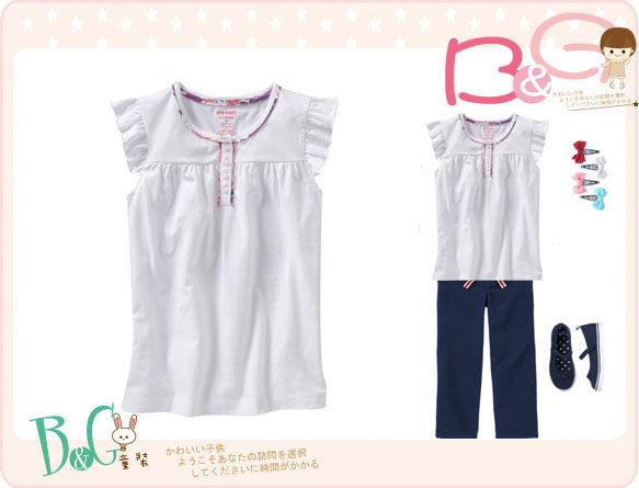 【B& G童裝】正品美國進口OLD NAVY 白色短袖上衣S號6-8yrs