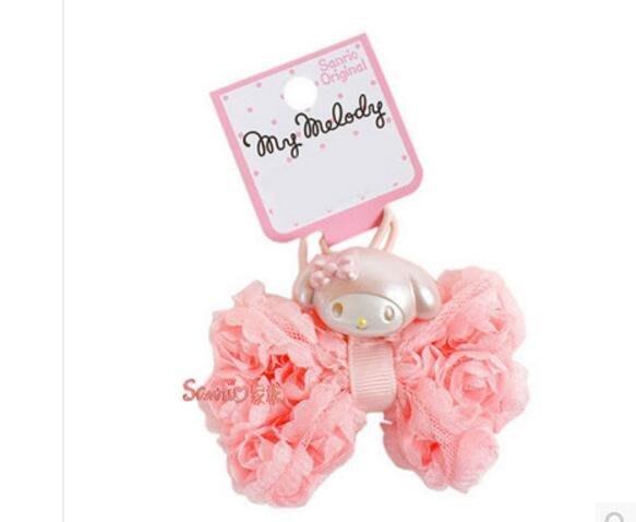 東京家族  Melody美樂蒂女童用玫瑰蝴蝶結造型髮束(粉緞)
