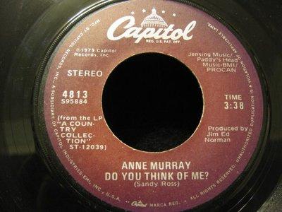 45轉美版黑膠唱片(7吋)*Capitol*Anne Murray --Do You Think of?/Daydream Believer*EX+~NM-