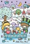 日本進口拼圖專賣店_可愛畫風300片_三麗鷗 KIKI&LALA 雙子星 愛麗絲茶會 33-068