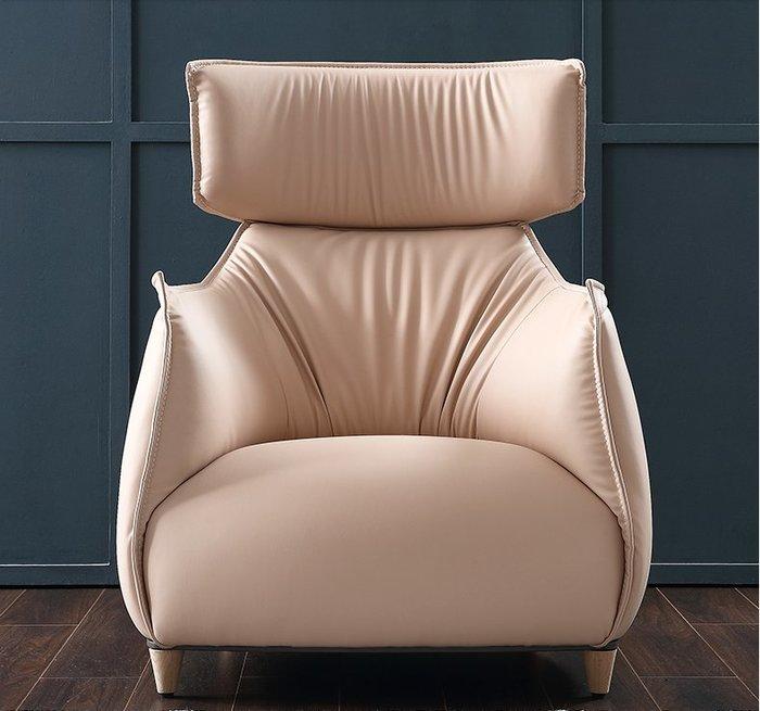 北歐簡約現代皮藝單人沙發椅小戶型客廳懶人椅休閑高背座椅子