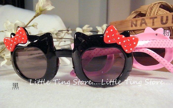 台灣製外銷歐美兒童太陽眼鏡貓咪鏡框蝴蝶結造型點點鏡框膠框墨鏡太陽眼鏡 防曬眼鏡UV400