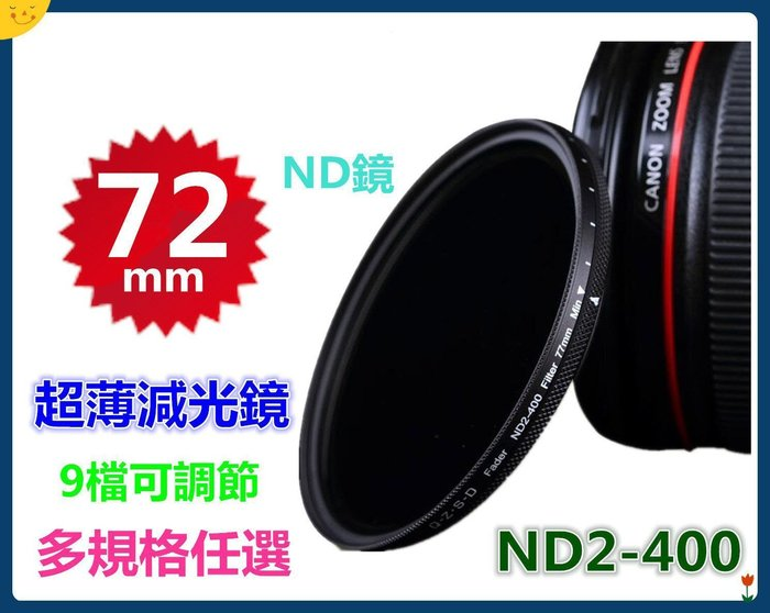 【可調ND2-400中灰減光鏡】 多規格任選!此賣場72mm單眼相機尼康G5光軌LG車軌NiSi腳架參考