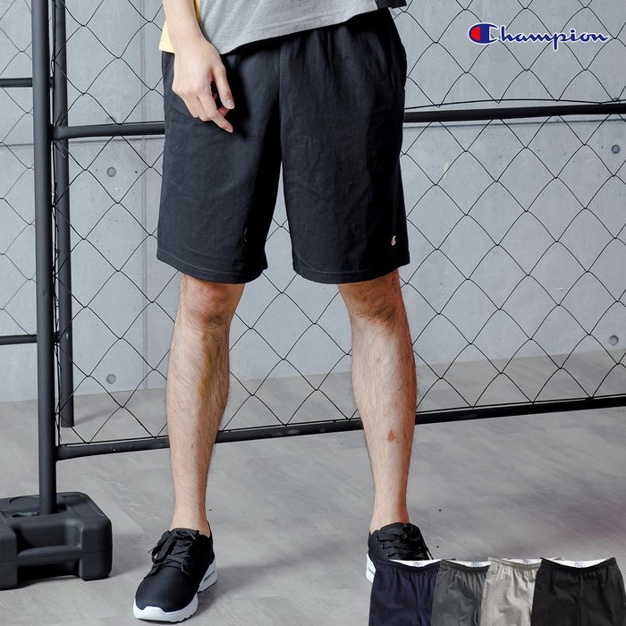 SL Store【C85653】Champion美規 C85653 高磅透氣刺繡短褲.4色/S/M/L/XL