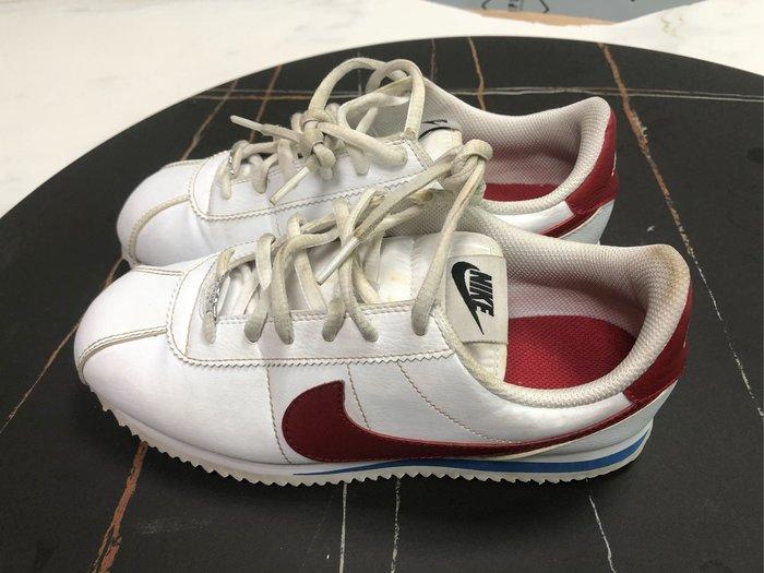 NIKE CORTEZ 阿甘 大童 女鞋 鐵牌 白紅藍 904764-103