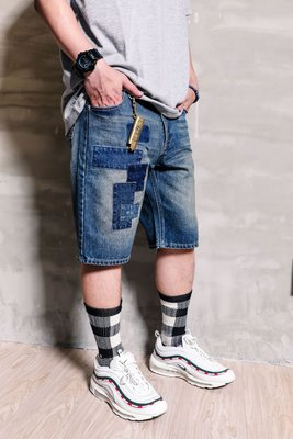 [PURE by TAKI] TAKI Dismantle Denim Shorts 拆解拼布單寧短褲 S/M/L/XL