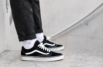 【Cool Shop】Vans Old Skool Black/white 黑白 男女 經典款 VN000D3HY28