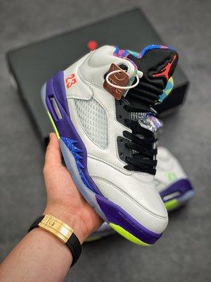 "Air Jordan 5 ""Alternate Bel-Air 白灰紫 新鮮王子 鴛鴦 中筒 籃球鞋DB3335-100"