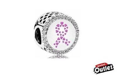 【全球購.COM】PANDORA 潘朵拉 鑲鑽新款粉紅絲帶串珠 925純銀 美國正品代購