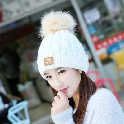 帽子 帽子女冬季學生潮針織包頭秋冬天加絨百搭毛線帽保暖護耳休閑