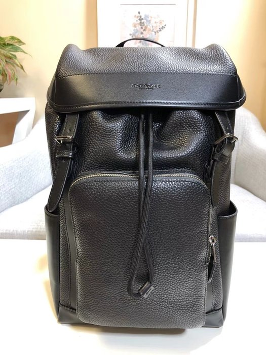【小怡代購】 全新COACH 72311 美國正品代購 新款百搭斜背包 休閒牛皮旅行包 男士雙肩包 超低直購