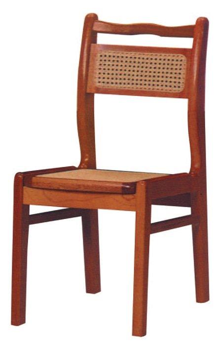 【南洋風休閒傢俱】餐廳家具系列- 大雙藤面實木餐椅 用餐椅  (金622-12)