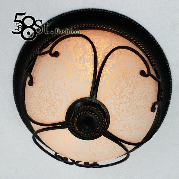 【58街】設計師款式「立體鐵框 歐式吸頂燈」複刻版。GZ-197