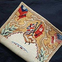 【藏家釋出】早期收藏 ◎  (((二戰《同盟國》戰勝紀念毯)))由英國推出的戰勝紀念壁毯.....