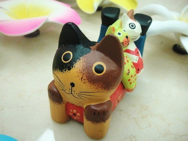 Y【永晴峇里島】巴里島3隻小貓吊飾/擺飾/公仔,居家、民宿、飯店都好用-擺飾9