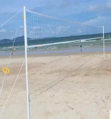 【沙灘排球網架組-ODV11-1套/組】一套 : 網架-高可調、網、球*1、筒及針*1套、導繩*1套、包包-56007