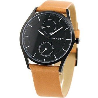 現貨 可自取 SKAGEN SKW6265 手錶 40mm 皮革錶帶 黑面盤 男錶 女錶