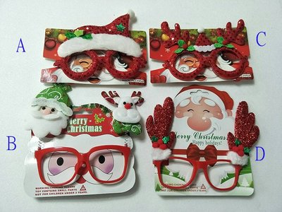 【洋洋小品聖誕造型眼鏡聖誕老公公麋鹿】桃園中壢平鎮聖誕服 聖誕節服裝 聖誕婆婆服 服裝女孩聖誕裙聖誕帽聖披肩裝