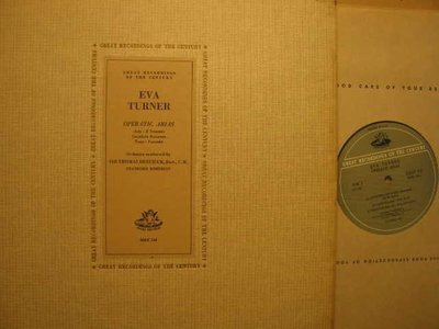 A242*Angel COLC 114*美版黑膠唱片*女高音Eva Turner –Operatic Arias*Thomas Beecham*NM
