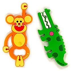 《創意3C》i-Jungle 叢林系列的 耳機線捲線器 (鱷魚先生與快樂小猴),免郵