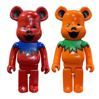{满699-50}Bearbrick 1000% GRATEFUL DEAD DANCING BEARS跳舞熊 暴力熊擺件