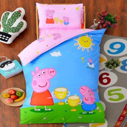 幼兒園被子三件套全棉含芯兒童被褥純棉被套寶寶午睡嬰兒床品
