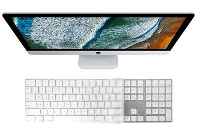 ☆蝶飛☆2017新款imac 一體機長款鍵盤膜 Magic Keyboard A1843 桌上型附帶數字鍵盤