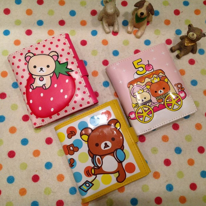 拉拉熊 懶懶熊草莓拉拉 立體 短夾 卡通拉拉熊皮夾造錢包