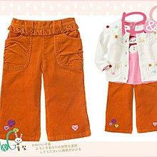 【B& G童裝】正品美國進口GYMBOREE心心圖樣橘色燈芯絨布長褲5yrs