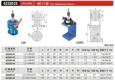 鎖刀座 LDI/LDAC 62320/25