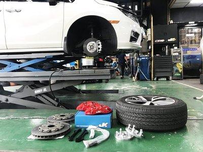 JK RACING HONDA ODYSSEY JK 前六活塞 煞車組 含碟盤 來令片 金屬油管