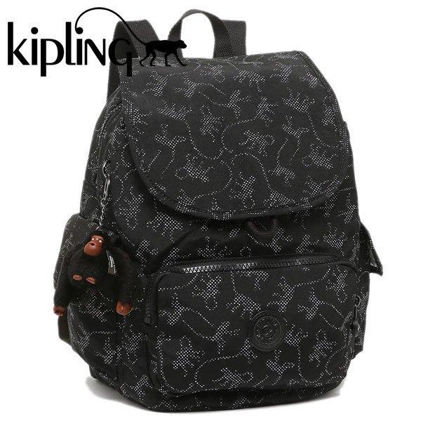 KIPLING CITY PACK S 15641 30D 猴子圖騰 後背包 翻蓋 束口 書包 小猴子 LUCI日本代購