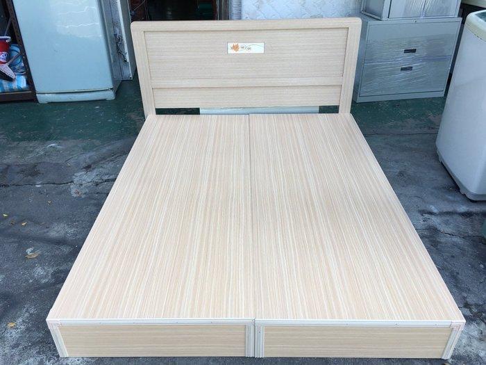 非凡二手家具 全新 白橡木 雙人5尺床底+床頭*實木床架*5x6.2尺床組*床底*床箱*雙人床*二手