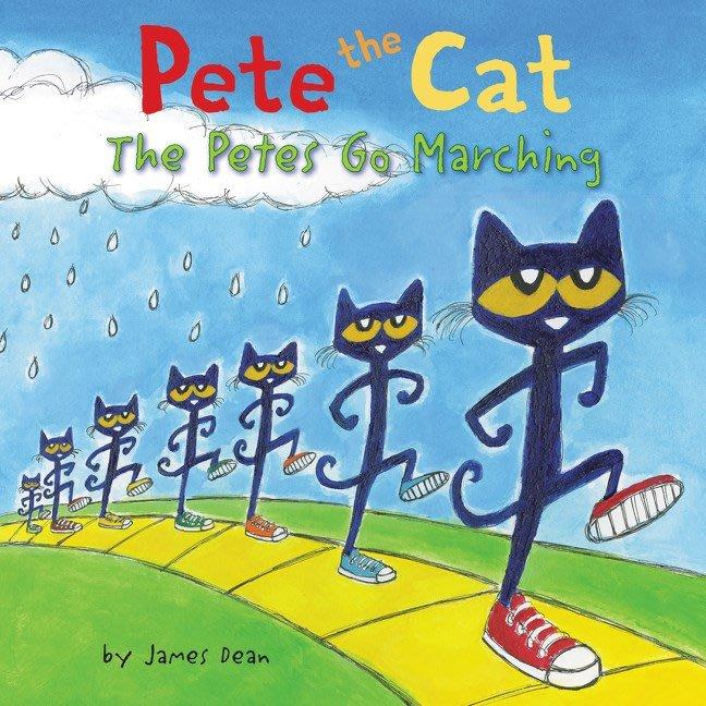 *小貝比的家* PETE THE CAT THE PETES GO MARCHING /精裝/3~6歲
